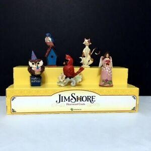 Heartwood Creek Everyday Miniatures 5 piece set with Displayer, all new in boxes