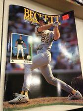 Beckett Baseball Magazine Monthly Price Guide August 1992