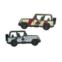 Border Patrol Jurassic Park Jeep mashup challenge coin