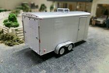 Special*GREENLIGHT enclosed trailer farm diorama car hauler Hitch 4x4 truck dcp