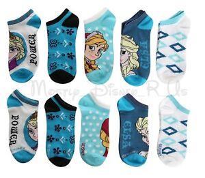 New Disney Frozen ELSA ANNA Power No-Show Socks 5 (Pr) Pair no-show Ankle socks