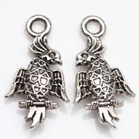 25/50Pcs Tibetan Silver Eagle Charm Bracelet Necklace Pendant 19*10mm Findings