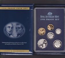 1998 Australia Proof Coin Set in Folder with outer Box & Certificate