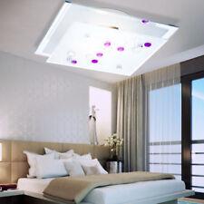 LED Wohn Ess Zimmer Decken Leuchte Wand Lampe satiniertes Glas lila Ziersteine