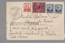 1936 SPAIN AIR MAIL Cover PALMA DE MALLORCA-ROMA+c.25+c.50x+c.10 PRO PARO M-M712