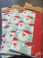 Christmas Tissue Paper Ho Ho 10 Sheets Gift Wrap Wrapping Cute Present Pack