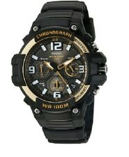 Casio Men's Chronograph Watch, 100 Meter WR, Black Resin, Date, MCW100H-9A2