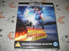 BACK TO THE FUTURE TRILOGY - Steelbook - Ultra 4k HD Blu Ray & Blu Ray - NEW