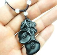 Beautiful 100% Chinese jade hand-carved the statue of mangnolia PENDANT