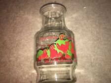 New listing Vintage 1980 Strawberry Shortcake Anchor Hocking Glass Pitcher With Lid