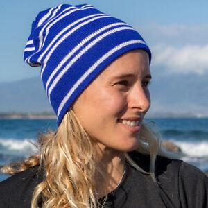 Result Essentials Team Reversible Stripe Beanie Hat R354X Unisex Adult Headwear