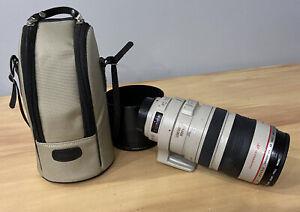 Canon EF 100-400mm f/4.5-5.6L IS USM Telephoto Zoom Lens W/ Lens Hood & Bag