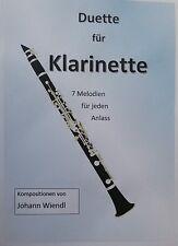 Noten Klarinette (Duette) von Johann Wiendl