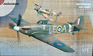 Eduard 1/72 scale Hawker Hurricane Mk.I 'Hurristory' Ltd Ed double Kit EDK2138
