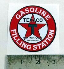 "Vintage Texaco Gasoline Filling Station sticker 3"" dia"