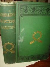 1872 SPECTRUM ANALYSIS TERRESTRIAL STRUCTURES HEAVENLY BODIES>DR. H. SCHELLEN