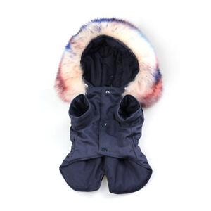 Winter Dog Clothes for Small Medium Dog Jacket Boy Girl Pet Warm Coat Fur Collar