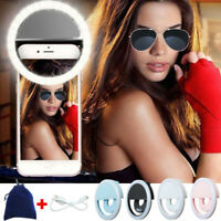 Selfie LED Ring Fill Light Camera Photography Portable For I Android  !