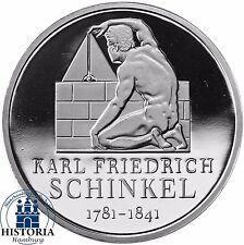 Deutschland 10 Euro Karl Friedrich Schinkel 2006 Silber-Münze Spiegelglanz