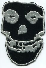 THE MISFITS shiny black crimson ghost skull EMBROIDERED PATCH Iron Free Shipping