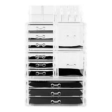 Acrylic Makeup Case Cosmetic Organizer Storage Jewelry Display Drawer Box Holder