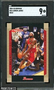 2004-05 Bowman GOLD Lebron James #23 SGC 9 2nd Year Great Investment POP 7 ONLY
