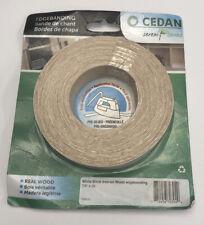 "New! Cedan 10061S Iron-on Real Wood Edgebanding White Birch 7/8"" x 25'"