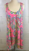 Lilly Pulitzer Pink Pout Shellebrate Monterey Tank Med. Length Short dress Small