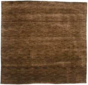 Solid Brown Hand-Loomed Tribal 8X8 Oriental Modern Square Rug Home Decor Carpet
