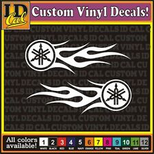 Yamaha Racing Tribal Flames Premium Motorbike vinyl decal Sticker 8""