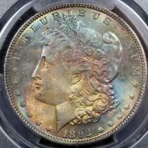 1892 Morgan Silver Dollar PCGS MS64 Gorgeous Toning