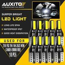 10X T10 2825 168 194 CANBUS White LED Interior Dome Map License Light Bulb 2F EA