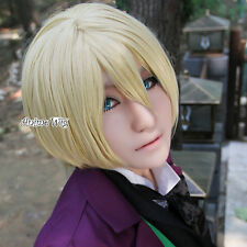 Anime Black Butler Alois Light Blonde Short Straight Cosplay Wig Heat Resistant