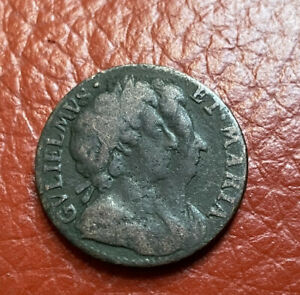 William And Mary Farthing 1694