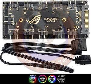 Motherboard A-RGB 10 Port SATA Powered Hub