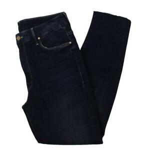 Mother Womens Looker Blue Denim Hight Waisted Fray Ankle Jeans 30 BHFO 1051