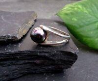 Wundervoller 925 Sterling Silber Ring Kugel Öl Fleck Optik Modernism Modern Edel