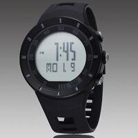 Sport Black OHSEN Digital Quartz LED Light For Diving Rubber Band Wrist Watch