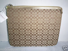 COACH F61035 signature tablet iPad sleeve case new nwt
