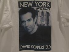 VINTAGE AUTOGRAPHED DAVID COOPERFIELD MAGICIAN N.Y. WELCOMES T-SHIRT (L) RARE