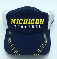 NCAA Michigan Wolverines Adidas Adult Half Mesh Flex Fit Cap Hat Beanie NEW!