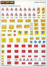 00 gauge Road Maintenance Signs, road signs, road works