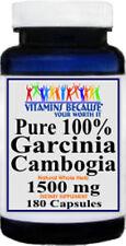 Pure 100% GARCINIA CAMBOGIA 1500mg HCA 50%,180 CAPS