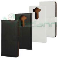 Custodia FLIP cover eco pelle per LG V10 H960 case stand BOOKLET interni MARRONI