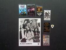 Black Sabbath,Original B/W Promo photo,6 Backstage passes,Guitar pick