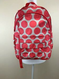 Thirty One Mod Coral Pink Polka Dot Her Deluxe Padded Insulated Backpack 31