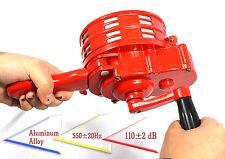 Handheld Loud Hand Crank Operated Air Raid Alarm Portable Siren Metal Shell
