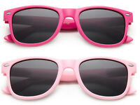 Kids Sunglasses Polarized Girls Pink Frame Cute Classic Retro 1-6 Years UV 100%