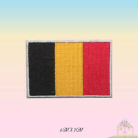 Belgium National Flag Embroidered Iron On Patch Sew On Badge Applique
