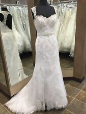 NWT 854 Alfred Angelo Wedding Bridal Gown White Lace Size 6